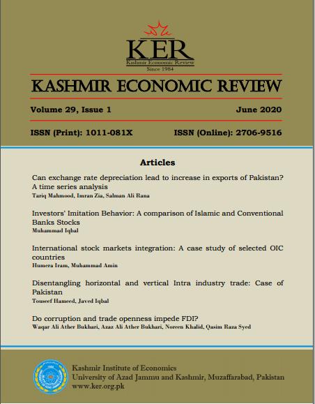 View Vol. 29 No. 01 (2020): Kashmir Economic Review, Volume 29, Issue 1, June 2020