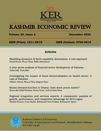 View Vol. 29 No. 2 (2020): Kashmir Economic Review, Volume 29, Issue 2, December 2020