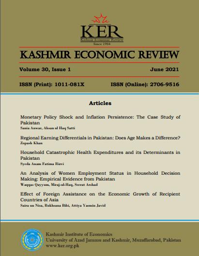 View Vol. 30 No. 1 (2021): Kashmir Economic Review, Volume 30, Issue 1, June 2021